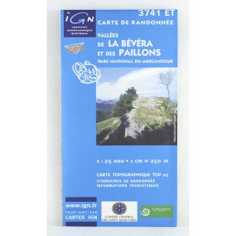 carte IGN TOP 25 3741 ET vallées de la Bévéra et des Paillons Parc national du Mercantour
