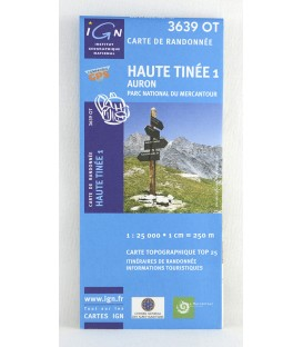 haute Tinée 1, Auron, Parc national du Mercantour: carte IGN TOP 25 3639 OT